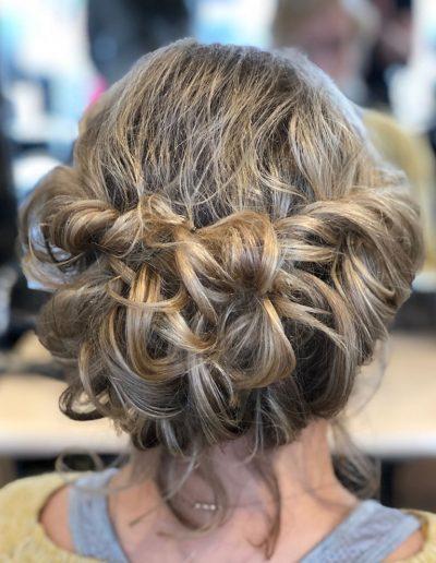 hair up curls